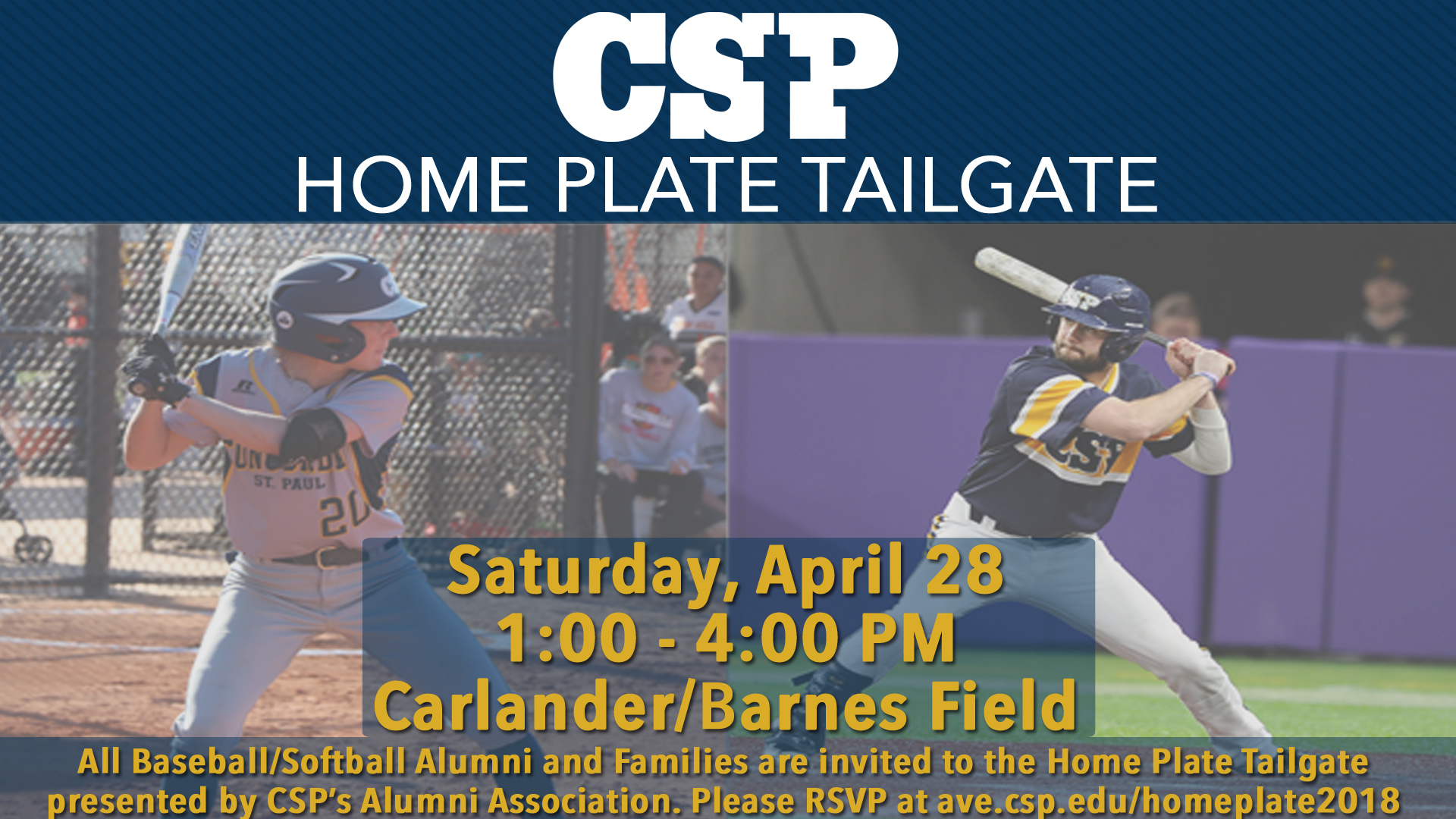 Csp Hosting Home Plate Tailgate On April 28 For Baseball And